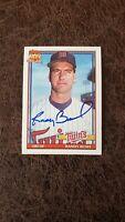 1991 Topps Randy Bush #124 - Minnesota Twins - Autographed!