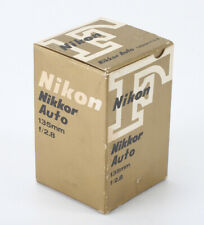 NIKON BOX ONLY FOR 135MM 135/2.8 NIKKOR, WITH MATCHING WARRANTY CARD/194828
