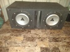2 Jl audio 10 inch subwoofers in bandpass box