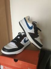 best sneakers 669d4 5b9b1 Nike Court Force Low Premium White Military Blue Bison UK 8 Rare Deadstock