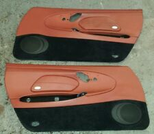 Porsche Boxster 986 terracotta red leather with black carpet door cards
