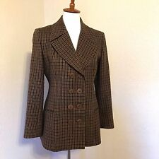 Donna Karen Suit Jacket Blazer Sz 6 Made in Italy Double Breasted Wool Cashmere