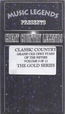 VHS:  GREAT COUNTRY LEGENDS OF THE  50's.....GRAND OLE OPRY STRS VOLUME 9 OF 12