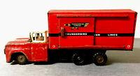 VINTAGE RARE ANTIQUE 1960s ORIGINAL RED FORD THUNDERBIRD EXPRESS VAN LINES