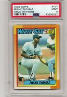 Frank Thomas White Sox 1990 Topps  #414 Baseball RC Card Mint PSA 9
