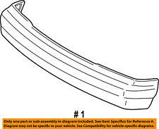 FORD OEM 92-02 E-350 Econoline Club Wagon-Bumper 4C2Z17757AAA