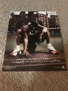 Vintage 2003 ADIDAS COMEBACK Basketball Shoes Poster Print Ad RED WHITE RARE