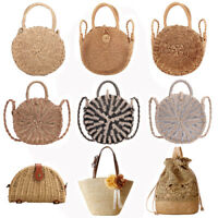 Women Rattan Straw Woven Handbag Crossbody Beach Boho Shoulder Bag Messenger Lot