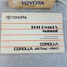 1991 Toyota Corolla All-Trac 4wd Owners Manual