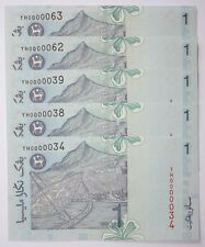 (PL) NEW: RM 1 YH 0000038 UNC 1 PIECE ONLY 5 ZERO SUPER LOW ALMOST SOLID NUMBER