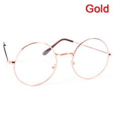 Vintage Round Glasses Men&Women Metal Frame Retro Luxury Eye wear ClearFEH
