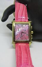 NEWTON-SONS Womans Pink MOP Face and Leather Band/Water Resistant Watch