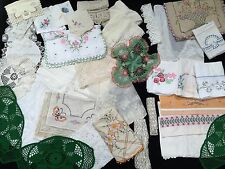 Vintage Linen Medium Flat Rate Box Lot Of Pure Joy! Cutter's Lot (RF216)