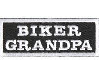 Biker Leather Vest Jacket Patch'  BIKER GRANDPA ' RIDER MENS