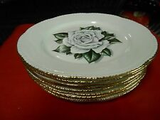 "Beautiful HOMER LAUGHLIN Dinnerware ""Gardenia"" .8 BREAD / SALAD / DESSERT Plates"