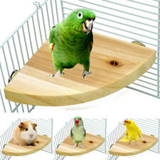 Pet Bird Parrot Wood Platform Stand Rack Toy Hamster Perches For Bird Cage Nd