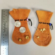 2 Gold Nugget Metal Detector Coin Kangaroo Scrotum Seamless Pouch Great Gift