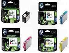 4 X ORIGINAL HP 920XL INK CARTRIDGES BLACK CYAN MAGENTA YELLOW 1ST CLASS POSTAGE