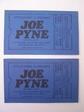 2 Original JOE PYNE SHOW TV Taping Tickets KTTV Channel 11  Thurs. 6.19.1969