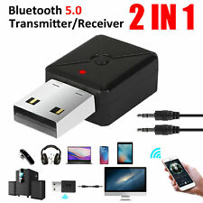 2in1 Bluetooth 5.0 Transmitter Receiver 3.5mm A2DP Wireless Stereo Audio Adapter
