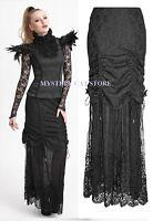 New PUNK RAVE Gothic Long Black Lace Jacquard Skirt Q-272 ALL STOCK IN AUSTRALIA