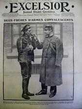WW1 ANGLAIS FRANCAIS FRERES D'ARMES TRANCHEES DANS L'EST EXCELSIOR 4 DEC. 1914