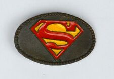 "SUPERMAN 2 1/2"" Metal BELT BUCKLE DC / Lee 1980"