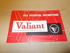 Mopar NOS Owners Manual 63 Valiant