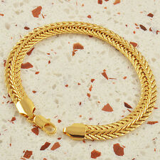 Classic 9K Real Gold Filled Mens Snake Bracelet,F1032