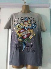 Shiroi Neko T shirt  Minute Mirth Grafic Tattoo Punk Goth Emo BNWT Size L Grey
