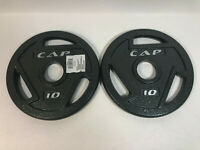 """10 Pound Olympic 2"""" Plate Set 2 X 10 lbs Weights Dumbbell 20 Lbs Total CAP"""