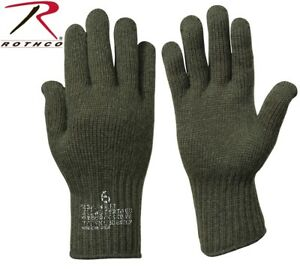D-3A Wool Glove Liners Genuine Military Issue Olive Drab Green Rothco 8418