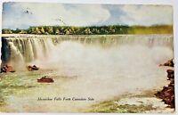 Circa 1913 Vintage Postcard Niagara Horseshoe Falls From The Canadian Side