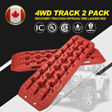 2 Pack Recovery Traction Offroad Red Tracks Sand Snow Tire Ladder 4WD Track