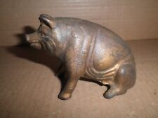 Neat old original cast iron Seated Pig still bank, A.C. Williams 1910 - 1934