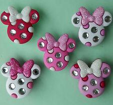Minnie strass TESTE DISNEY RAGAZZA Mouse Glitter Fiocchi dress It Up Bottoni Craft