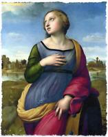 RAPHAEL SAINT CATHERINE OF ALEXANDRIA REPRODUCTION LIMITED EDITION PRINT 18x24