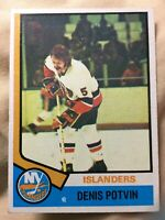 1974-75 Topps #195 DENIS POTVIN *ROOKIE CARD* *EX* ~Islanders Dynasty…BEAUTIFUL!