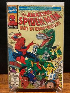 MARVEL - AMAZING SPIDER-MAN - RIOT AT ROBOWORLD - RARE - 1991 - VG/FN