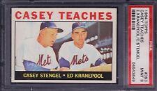 1964 Topps, Casey Stengel, CASEY TEACHES, E. Kranepool/Stengel , PSA 9!