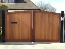 Hardwood timber  gates 70mm iroko arch top pair. ANY SIZE Heavey duty