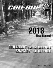 2013 Can-Am Outlander Renegade 500 650 800 800R 1000 Service Repair Manual CD