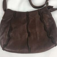 Hobo International Medium Crossbody Messenger Bag Leather Brown