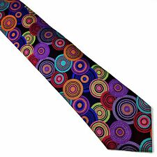 Silk Tie Multi-color Black Red Pink Orange Teal Green Purple Blue Lawrence Ivey