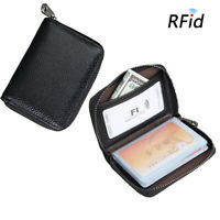 Male RFID Leather Multi-Function Card Holder Purse with 20 Card Slot .