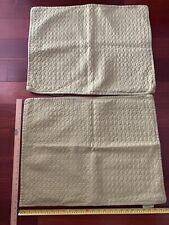Candice Olson Black Quilted Standard Pillow Sham Ventura Loop 52%Linen 48%cotton