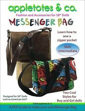 """American Girl Doll Sewing Pattern - Messenger Bag Sewing Pattern for 18"""" Dolls"""
