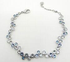 Authentic Signed Swarovski Bracelet Fidelity Blue 1106363 B81