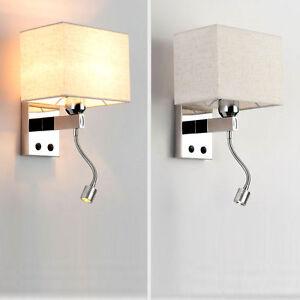 Modern LED Metal Wall Light Bedroom Bedside Living Room Wall Sconce Lamp