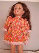 """DOLL CLOTHES AMERICAN GIRL AND OTHER 18"""" DOLLS RED BIG FLORAL PRINT"""